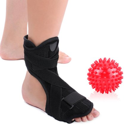 VGEBY Plantar Fasciitis Night Splint for Relief from Plantar Fasciitis Pain, Heel Spur, Arch Foot Pain, Foot Drop Orthotic Brace for Sleep Support with Spiky Massage Ball & Arch Support (Best Orthotics For Heel Spurs)