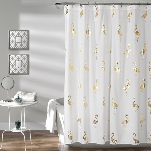 Mercer41 Heineman Flamingo Single Shower Curtain