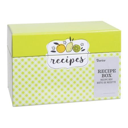 Darice Recipe Card Box Citrus](Recipe Box And Cards)