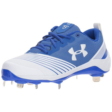 Under Armour Women's Glyde St White / Blue Ankle-High Mesh Football Shoe -
