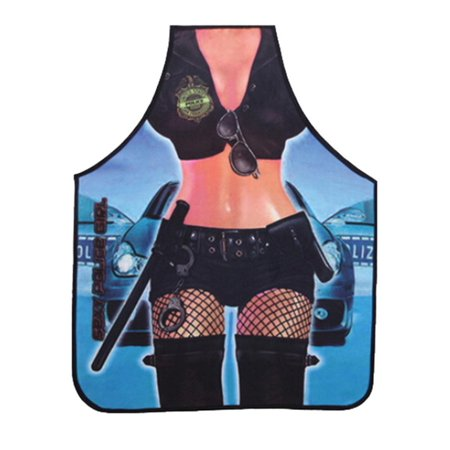 Attitude Sexy Hot Police Girl Lady Kitchen Apron BBQ Cooking Funny