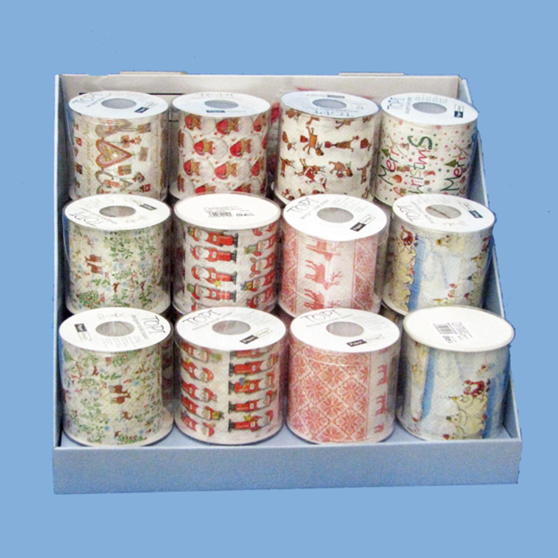 KSA Club pack of 24 Christmas Design Toilet Paper