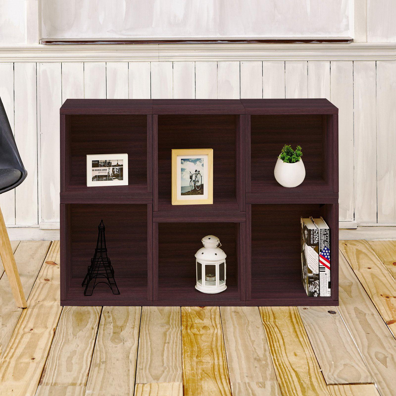 Way Basics Eco Stackable Arlington Modular Bookcase and Storage Shelf, Multiple Colors