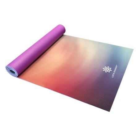 Life Energy Deluxe 6mm Reversible Yoga Mat -