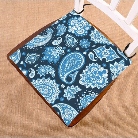Image of ZKGK Paisley Flower Floral Seat Pad Seat Cushion Chair Cushion Floor Cushion Two Sides 16x16 Inches