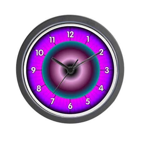 "CafePress - Neon Colors - Unique Decorative 10"" Wall Clock"