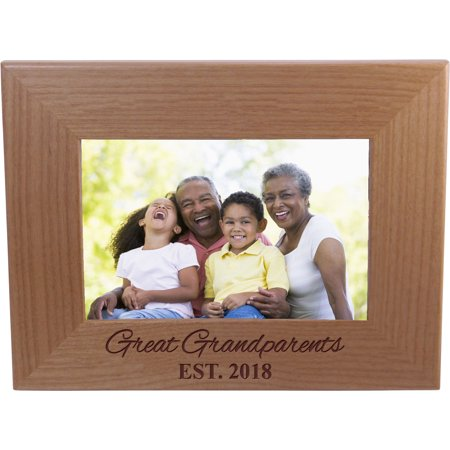 Great Grandparents EST 2018 4-inch x 6-Inch Wood Picture Frame ...