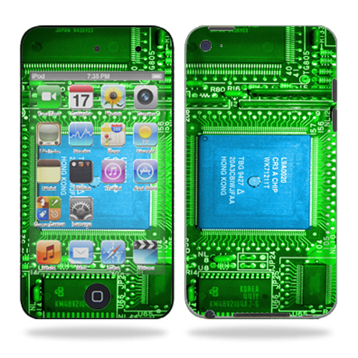 Skin Decal Wrap for iPod Touch 4G 4th Generation Circuit Board