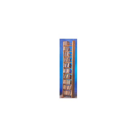 10 Row Dowel Tower CD Rack (Honey Oak)