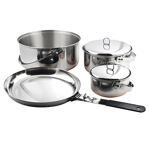 Chinook Stainless Steel Ridgeline Camp Cookset by Chinook