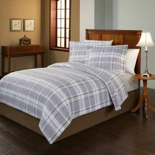 Pointehaven Jensen Flannel Duvet Set