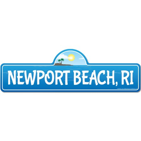 Newport, RI Rhode Island Beach Street Sign | Indoor/Outdoor | Surfer, Ocean Lover, Décor For Beach House, Garages, Living Rooms, Bedroom | Signmission Personalized (Stores In Newport Ri)