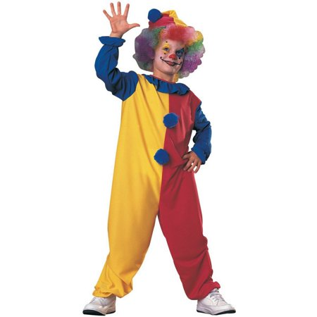 Halloween Kids Fuller Cut Clown Child Costume - Clown Jumpsuit Costume
