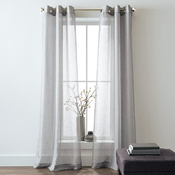 Better Homes And Gardens Metallic, Shimmer Sheer Curtain Panels