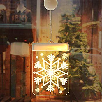 Updated on 2019 LED 3D Curtain Lights, Battery Powered Window Curtain String Light, Indoor Décor Lights, Bedroom Decoration Lights for Christmas Wedding Party Hotel (Snowflake) ()