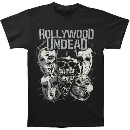 Hollywood Undead Men's  Metal Masks T-shirt Black - Hollywood Undead Mask