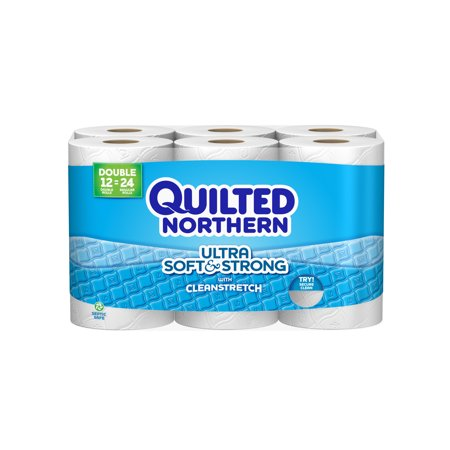 Quilted Northern Ultra Soft   Strong Toilet Paper  12 Double Rolls