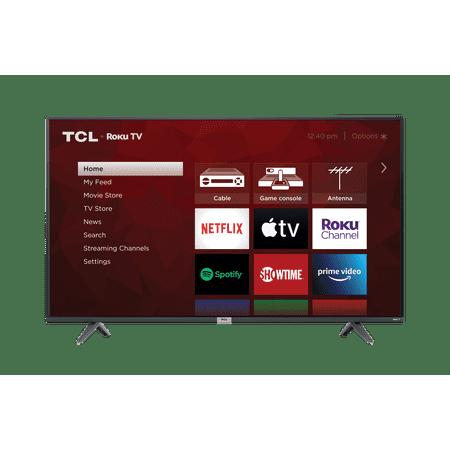 "TCL 50"" Class 4-Series 4K UHD HDR Roku Smart TV – 50S435"