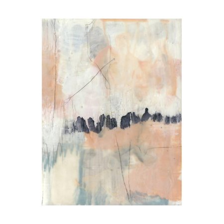 Blush & Navy II Pink Contemporary Abstract Art Print Wall Art By Jennifer Goldberger (Goldberger Abstract Print)