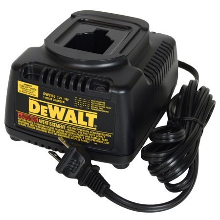 DeWalt DW9116 NiCd Battery Charger 7.2V - 18V Volt 1 Hour with Automatic Tune-up Mode
