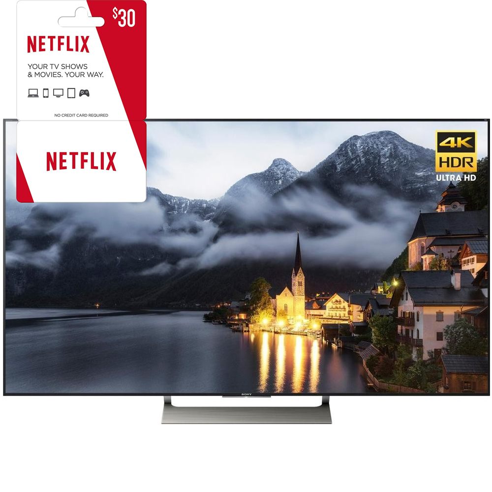 Sony XBR-49X900E 49-inch 4K HDR Ultra HD Smart LED TV (2017 Model) - $30 Gift Card (3 Months of Service)