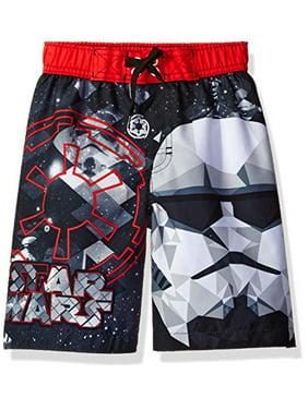 Star Wars Big Boys' Swim Trunk, Red, 4