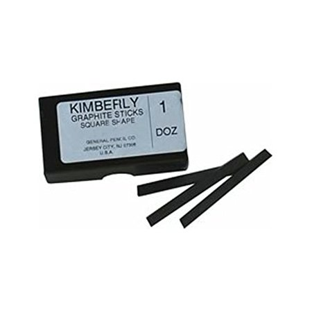 GENERAL PENCIL CO., INC. 9722B KIMBERLY THIN GRAPHITE STICK .25X.25X3IN 2B