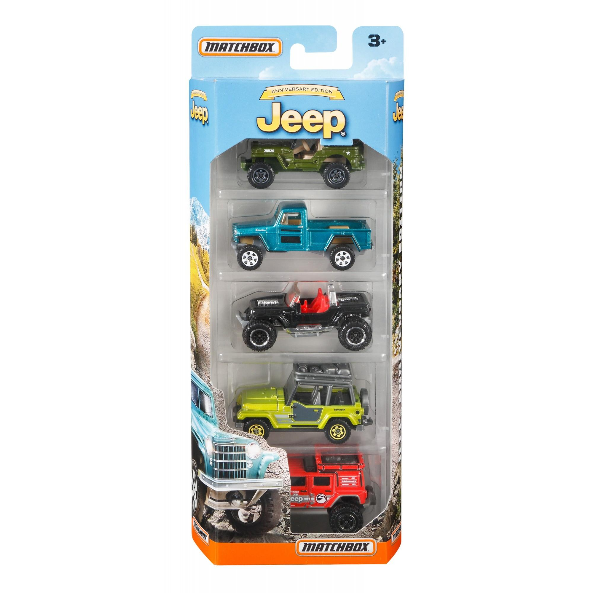 Matchbox Jeep 75th Anniversary 5-Pack by Mattel