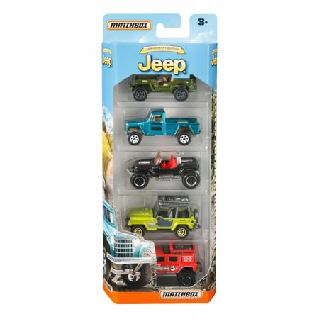 Matchbox Jeep 75Th Anniversary 5 Pack