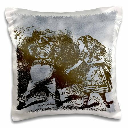 3dRose Alice in Wonderland Tweedle Dee and Dum Vintage, Pillow Case, 16 by 16-inch - Tweedle Dee And Tweedle Dum Hats
