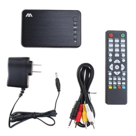 AGPtek 1080P HD HDMI USB Multi Media Player with Stereo L/R Audio Output with Remote Control