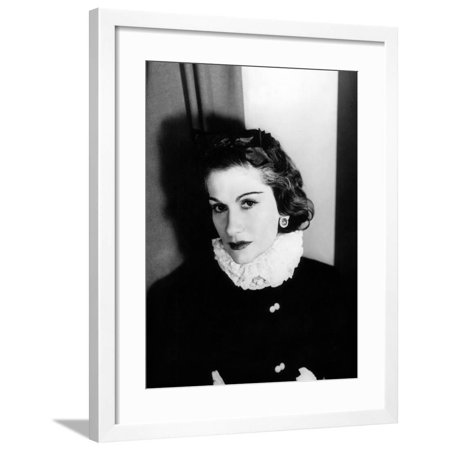 Coco Chanel Framed Print Wall Art ()