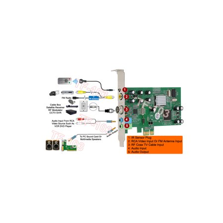 PCI-E Internal TV Tuner FM Tuner MPEG Video Capture DVR