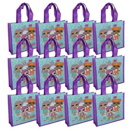 12PCS LOL Surprise Mini Reuseable Shopping Tote Bag Novelty Character Favor Bag