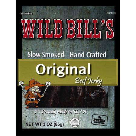 ((3 Pack) Wild Bill's Hickory Smoked Beef Jerky, 3 oz)