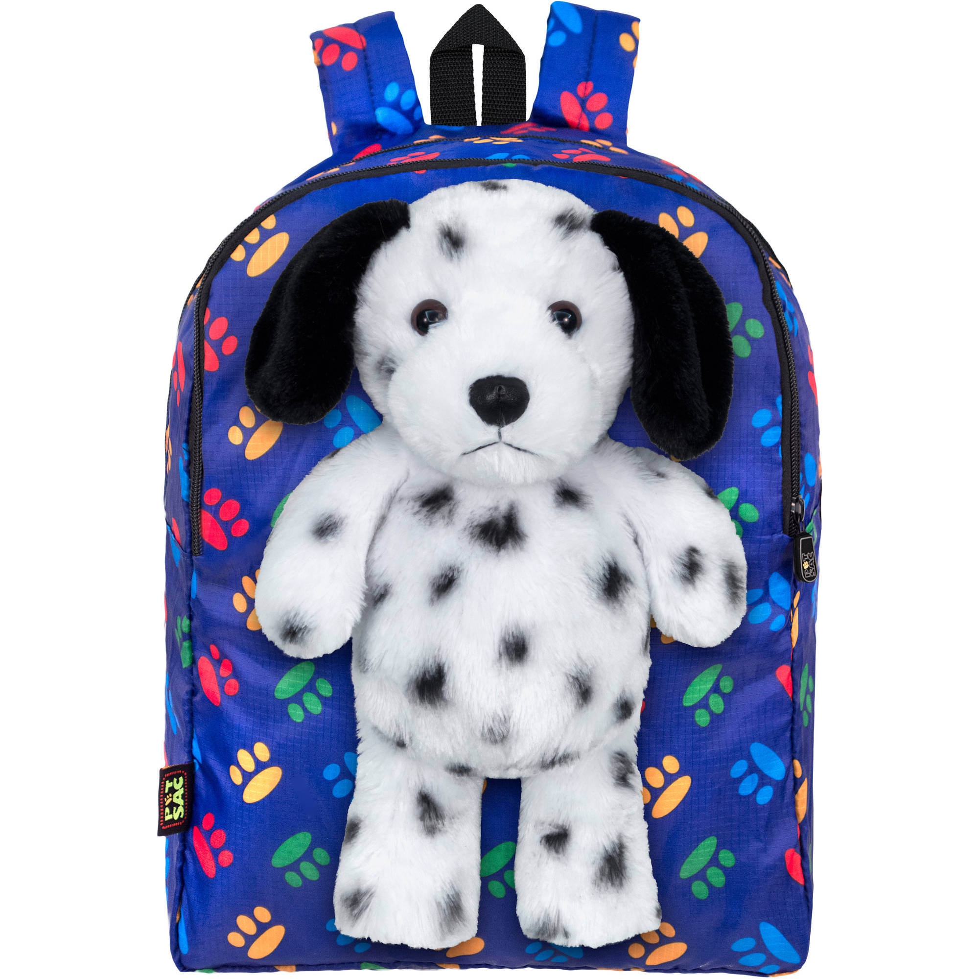PetSac Spike the Dalmatian with Blue Paw Print Backpack