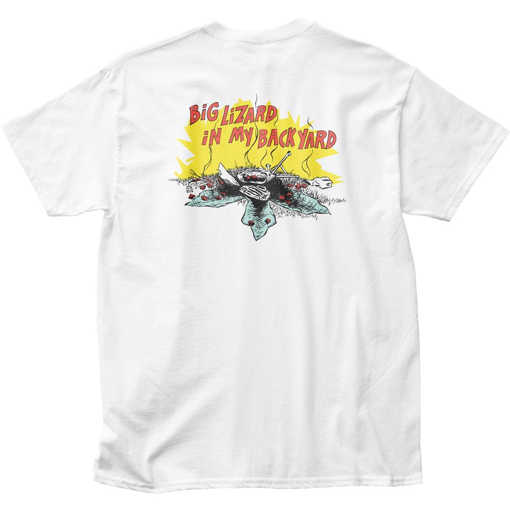 Dead Milkmen Men/'s  Big Lizard In My Backyard T-shirt White