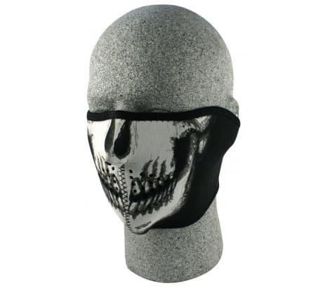 Zan Headgear Half Face Neoprene Mask Glow In The Dark Skull by Zan Headgear
