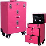 Sunrise C6026PVPK Pink Leather Like Pro Nail Case