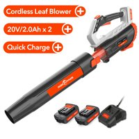 Deals on Rockpals Cordless Blower 330CFM 20V Leaf Blower w/2Batteries