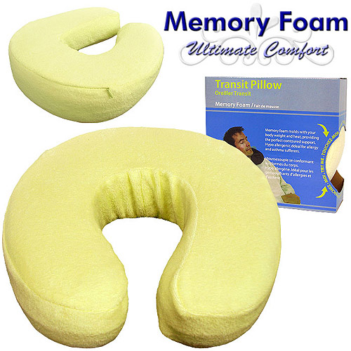 Somerset Home Memory Foam Head and Neck Support Transit Pillow