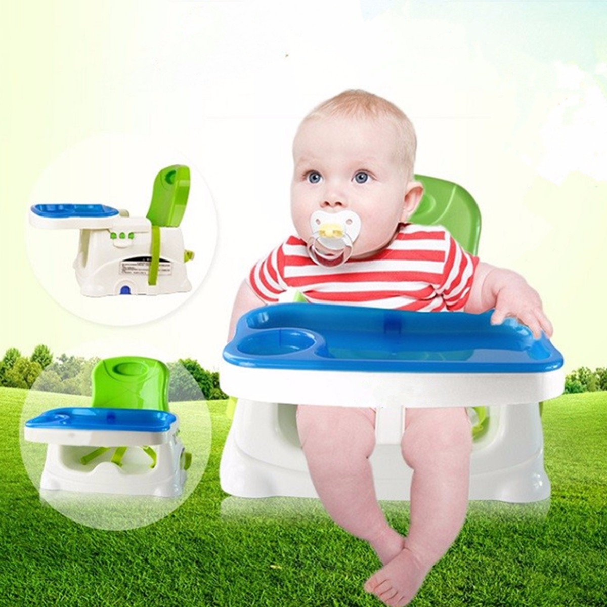 Portable Foldable Baby Toddler Eating Feeding High Chair Highchair Booster Seat Tools Accessories