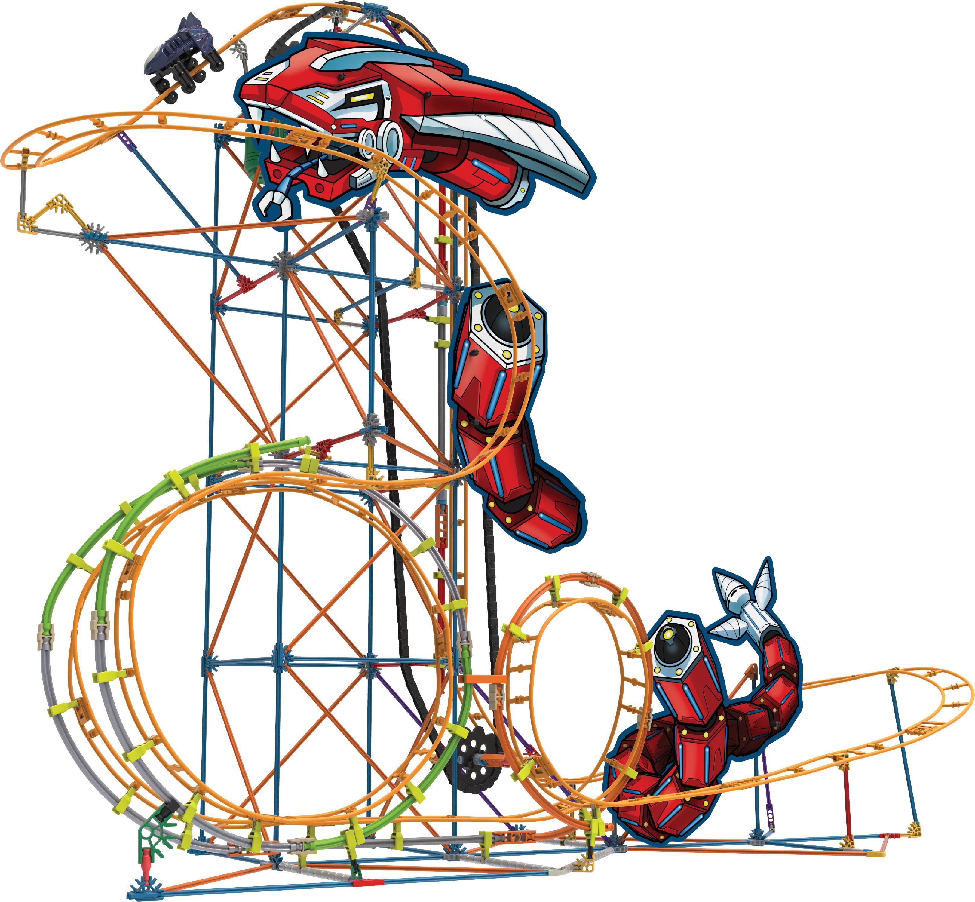 K Nex Thrill Rides Mecha Strike Roller Coaster Building Set Walmart Com Walmart Com