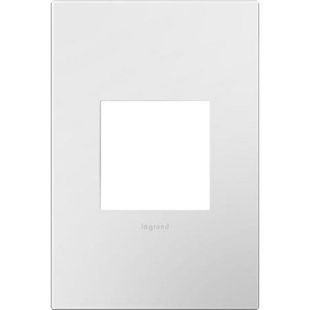Legrand AWP1G2WHW10 adorne 1 Gang Plastic Wall Plate - 4.75 Inches Wide