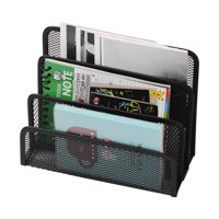 Metal Mesh Desk Mail File Organizer Practical Letter Sorter Document Filing Storage for Home Office Desktop