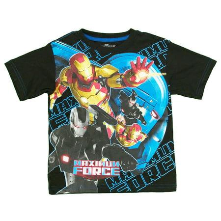 Iron Man 3 Maximum Force Marvel Comics Superhero Movie Juvenile Juvy T-Shirt Tee - Iron Man Toddler
