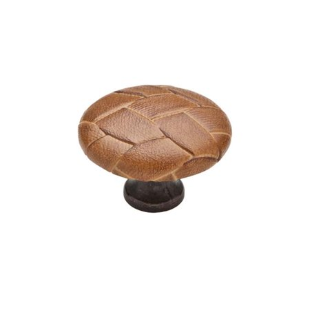 Brass Turtle - Knobware C3388 Weave Knob 1.5 in. Diameter Covered Burnished Brass, Turtle