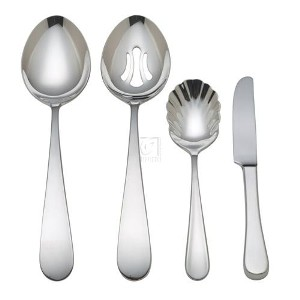 LUXURY STAINLESS Pomfret 4-pc. Hostess Set - POMFRET COLLECTION