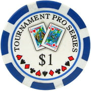 Phil Hellmuth Jr. Tournament Pro Series Poker Chips, Set of 50