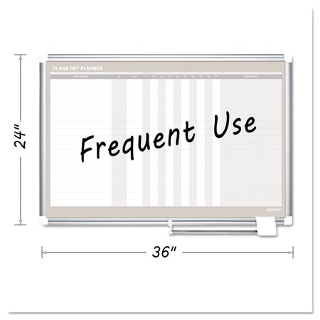 In-Out Magnetic Dry Erase Board, 36x24, Silver Frame - Walmart.com